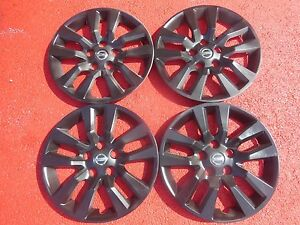 Nissan Altima Hubcaps Wheel Covers 13 14 2015 2016 16 Black Factory Caps 53088