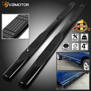 For 2015 2021 Ford F150 Supercab Black 4 Side Step Nerf Bars Running Boards