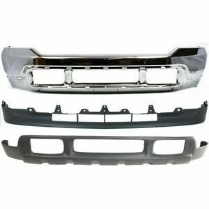 New Kit Bumper Face Bar Front For F250 Truck F350 F450 F550 Chrome Ford 01 04