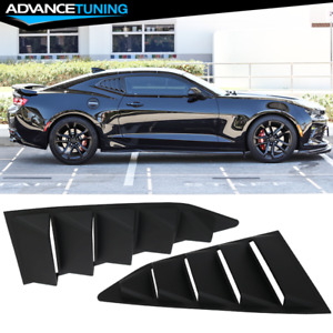 For 16 19 Chevy Camaro Gt style Quarter Window Visor Louvers