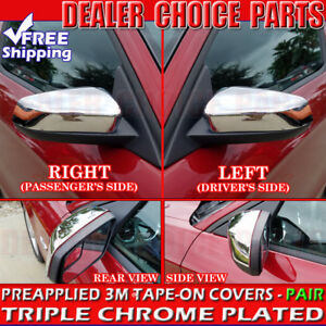 2010 2011 2012 2013 2014 Ford Mustang Chrome Mirror Covers Top Half Overlays Cap