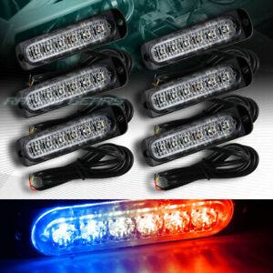 36 Led Red blue Car Emergency Beacon Hazard Warning Flash Strobe Light Universal