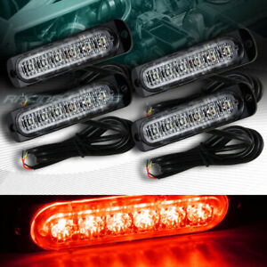 24 Led Red Car Emergency Beacon Hazard Warning Flash Strobe Light Bar Universal