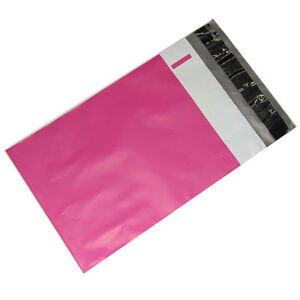 100 14 5x19 Hot Lipstick Pink Poly Bag Mailers Shipping Envelopes Boutique Bags
