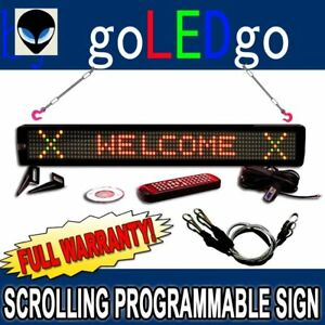 Goledgo Ultra Brightness 3 color Programmable Scrolling Led Message Marquee Sign