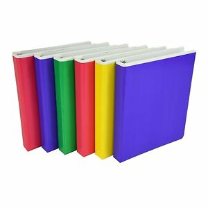 Samsill Fashion Color Pocket Tinted Overlay 3 Ring Binder 1 Inch Round Rings