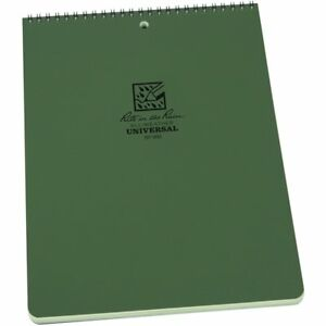 Rite In The Rain All weather Top spiral Notebook 8 1 2 X 11 Green Cover No