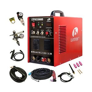 Lotos Ltpdc2000d Plasma Cutter Tig Stick Welder 3 In 1 Combo Welding Machine