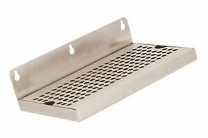 Beer Drip Tray 10 Stainless Steel Wall Mount No Drain