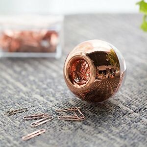 100 Paper Clips In Rose Gold Magnetic Clip Dispenser Rose Gold Paper Clips Rose