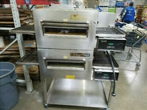 Lincoln Impinger 1132 Double Stack Electric Conveyor Pizza Sub Oven 2 Deck