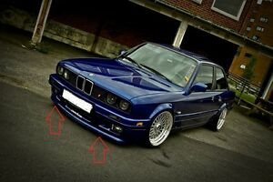 Bmw 3 E30 M Technic 2 m Tech 2 Look Front Rear Bumper Spoiler Lip