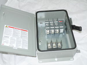 Abb Safety Switch 3p 30a 600v Fusible Heavy Duty N3r Eoh361rk New