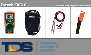 new Extech Ex510 Heavy Duty Industrial Multimeter Includes Nist Calibration