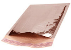 000 Metallic Rose Gold Bubble Mailers Padded Envelopes 4 25 X 7 100 Pieces