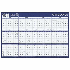 At a glance Yearly Wall Planner January 2018 December 2018 36 X 24 Red