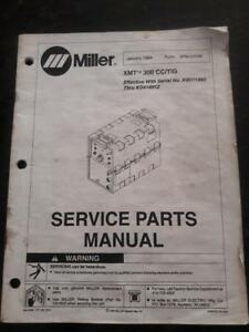 Miller Xmt 300 Cc tig Manual Jan 1994 discounted Miller Parts Available
