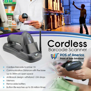 3nstar 1d Cordless Barcode Scanner Sc300 Pos Retail Pcamerica Quickbooks New