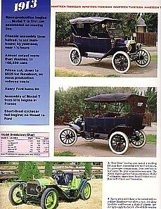 1913 Ford Model T Article Must See Over Sized Thick Glossy Pages