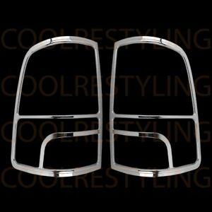 For Dodge Ram 1500 2500 2014 15 16 2017 Chrome Taillight Tail Lamp Covers