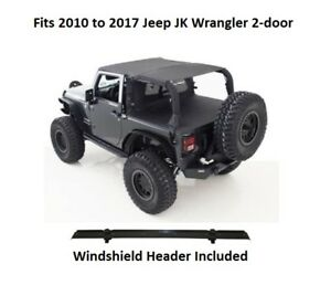 Jeep Extended Top With Windshield Header For 10 17 Jeep Jk Wrangler 2 door
