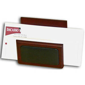 Dacasso 8000 Series Wood And Leather Letter Holder Pink