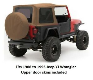 Jeep Replacement Soft Top With Tinted Windows For 1988 To 1995 Yj Wrangler