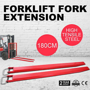 75 Forklift Pallet Fork Extensions Pair Lift Truck Fit 3 5 Width Slide Clamp