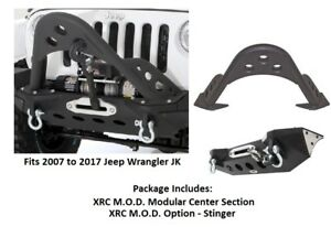 Smittybilt Xrc Mod Series Front Bumper With Stinger For 07 17 Jeep Jk Wrangler