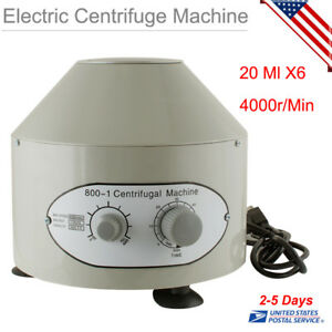 110v Electric Centrifuge Industry Machine Lab Medical Practice 20 Ml X6 us Ship