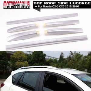 Aluminium Top Roof Side Rails Rack Cargo Luggage For Mazda Cx5 Cx 5 2012 2016 15