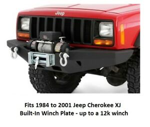 Front Rock Crawler Bumper W Built in Winch Plate For 84 01 Jeep Cherokee Xj