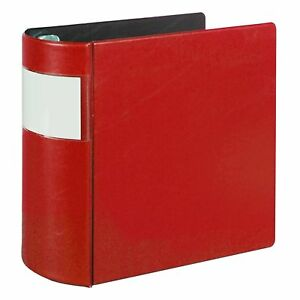 Samsill 17603 Top Performance Dxl Angle d Binder With Label Holder 5 inch Red