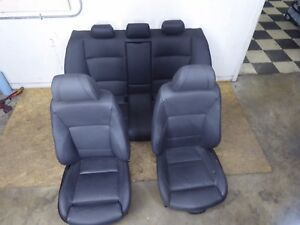 Bmw E90 3 Series Sport Black Seats Seat Set W Lumbar Support Oem 328i 330i 325i