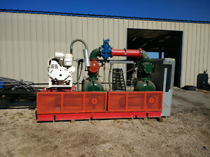 Dual 8 Gorman Rupp Trash Sewage Pumps 75 Hp Electric With Deutz Diesel Backup
