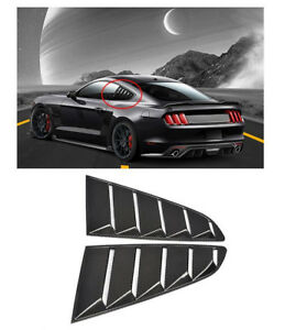 New For 15 17 Ford Mustang Oe Style Paint Pp Ingot Silver Side Window Louvers