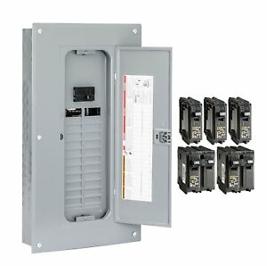Square D 24 Space 100 Amp Main Breaker Electrical Service Load Center Main Box
