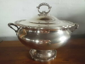 Antique Portugal Portuguese Sterling Silver Soup Tureen 1 Titulo Guia Lisboa