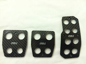 Universal Fit Rs 1 Racing Carbon fiber Foot Pedals Pad Covers For Manual Stick