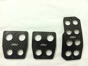 Toyota Scion Racing Carbon Fiber Manual Gas brake Cover Foot Pedals Pads A t
