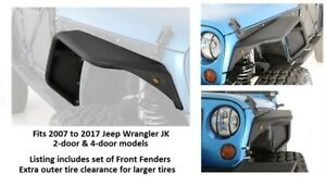 Smittybilt Xrc Flux Series Front Fender Flare Set For 07 17 Jeep Jk Wrangler