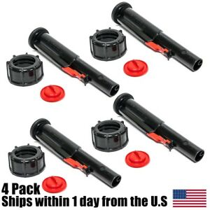 4pk Midwest Gas Can Screw Cap Collar Stopper Black Vent Spout Kit