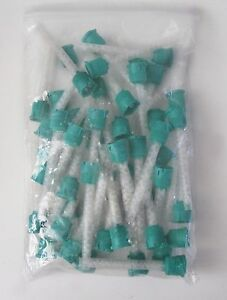 100 Pcs Hp Teal Mixing Tips 6 5 Mm Impression 1 1 Ratio