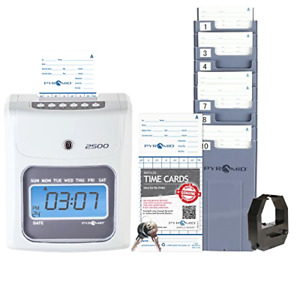 Time Clock Payroll Machine Hours Employees Punch System Card Recorder Business