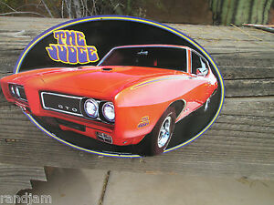 Pontiac Gto The Judge Display Metal Signs 68 69 70 Logo Emblem Excitement Cave