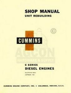 Cummins C Diesel Engines 4 6 Cyl Shop Service Manual
