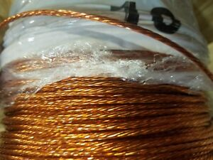 Ground Wire Stranded Bare Copper 10 Awg 100 Reel Jewelry Crafts Grounding Usa