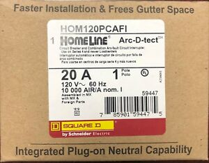 Lot Of 10 Square D Homeline Hom120pcafi Arc fault Afci 20a Plug On Neutral New