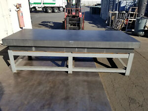 120 X 48 X 12 Thick Black Granite Surface Plate 4 Ledge W Table Stand