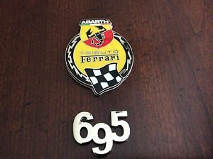 Fiat 500 Abarth 695 Tributo Ferrari Badge Emblem